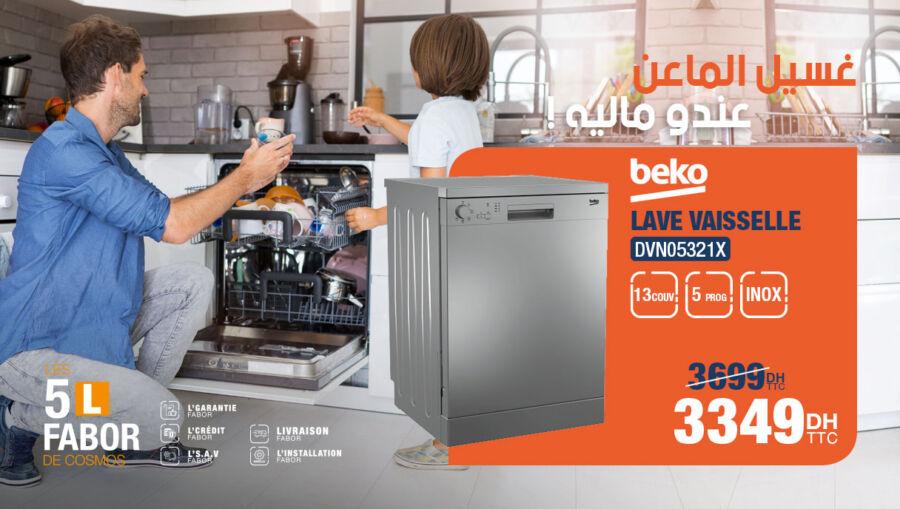 Soldes Cosmos Electro Lave vaisselle 13couv BEKO 3349Dhs au lieu de 3699Dhs