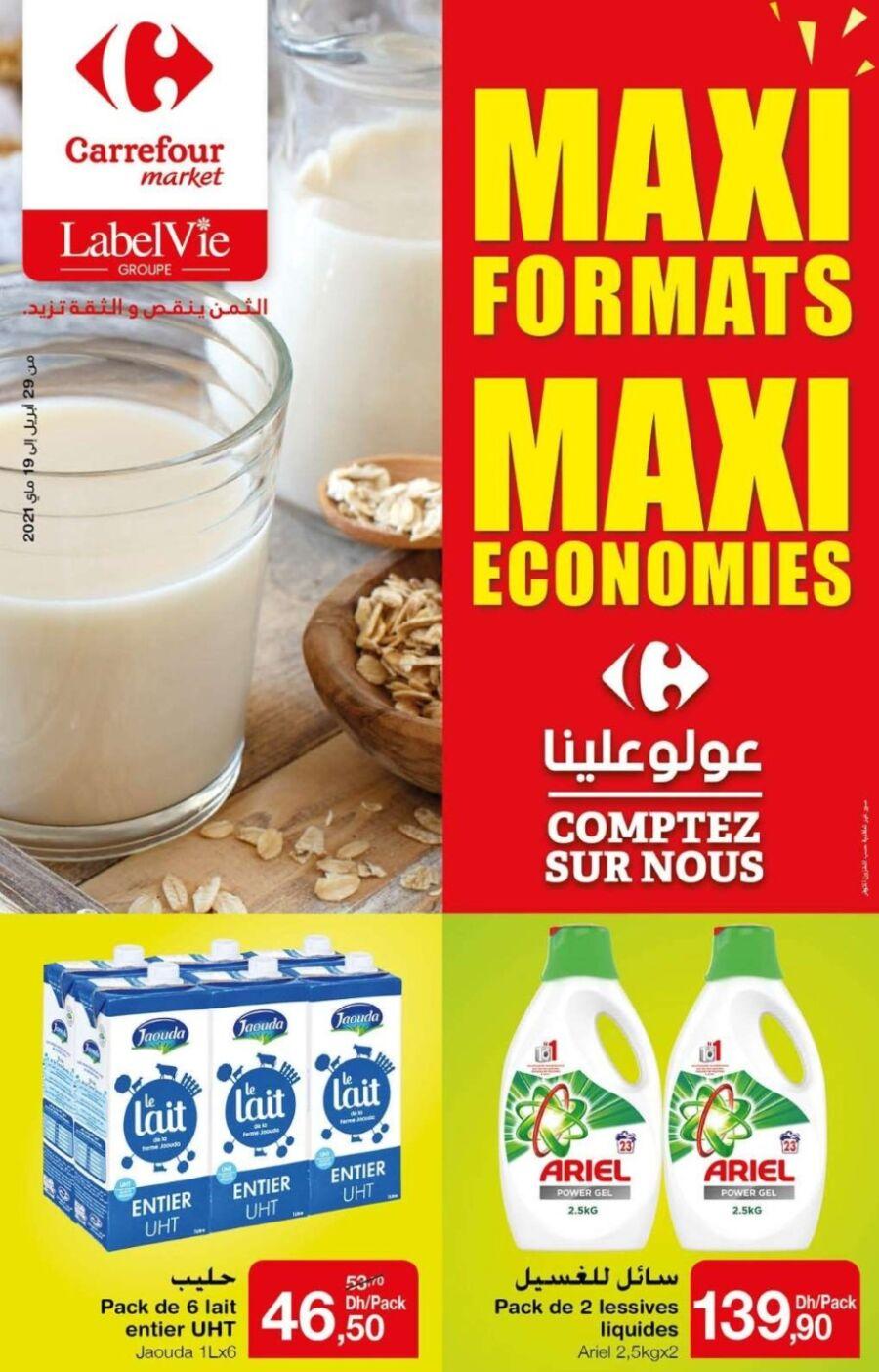 Catalogue Carrefour Market MAXI FORMTS MAXI ECONOMIES du 29 Avril au 19 Mai 2021