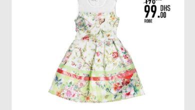 Soldes Kids Avenue MH Robe pour fille 99Dhs au lieu de 198Dhs