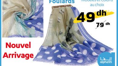Nouvel Arrivage des Foulards chez Alpha55 Modèles et coloris au choix