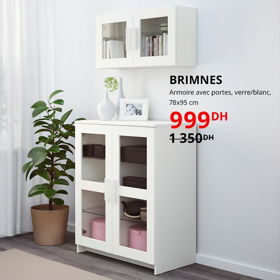 Soldes Ikea Maroc Armoire avec portes BRIMNES 999Dhs au lieu de 1350Dhs