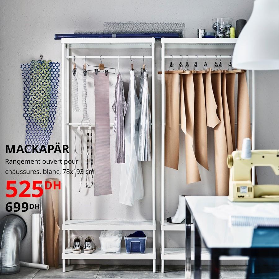 Soldes Ikea Maroc Rangement blanc ouvert MACKAPAR 525Dhs au lieu de 699Dhs