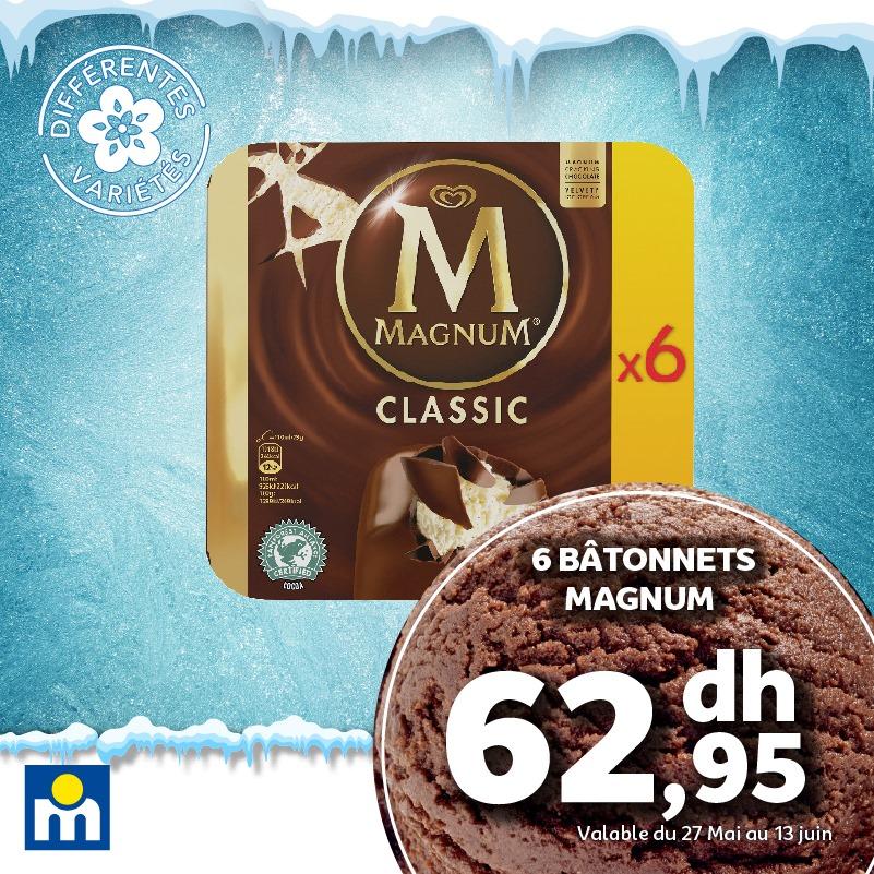 Offres glaces ou sorbets chez Marjane du 27 Mai au 13 Juin 2021