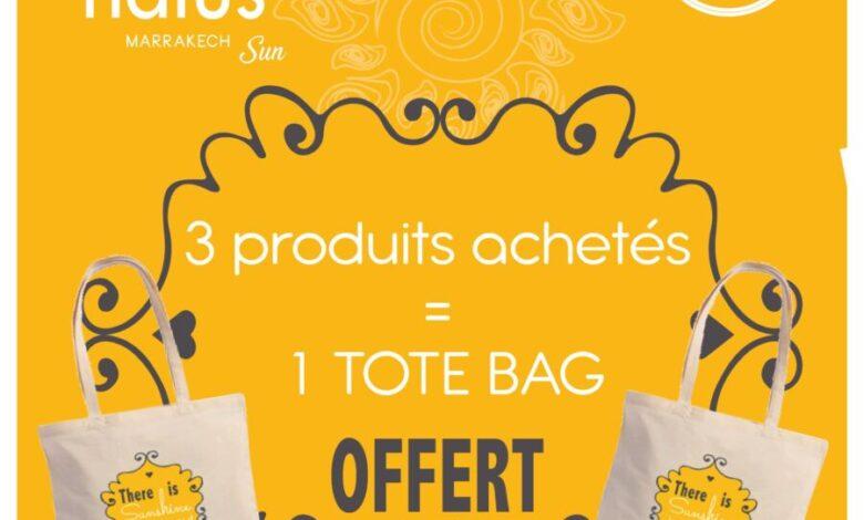 Offres Promotionnel chez Natus Marrakech 3 produits acheté 1 TOTE BAG offert