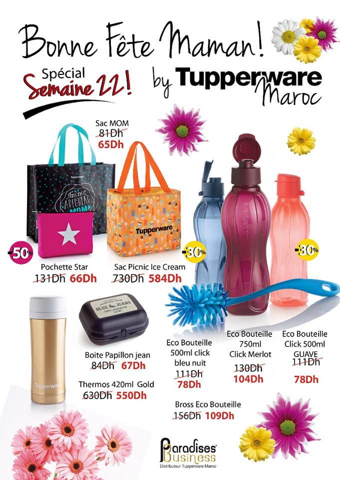 Catalogue Tupperware Maroc Fête des Maman Semaine 22 Jusqu'au 6 Juin 2021