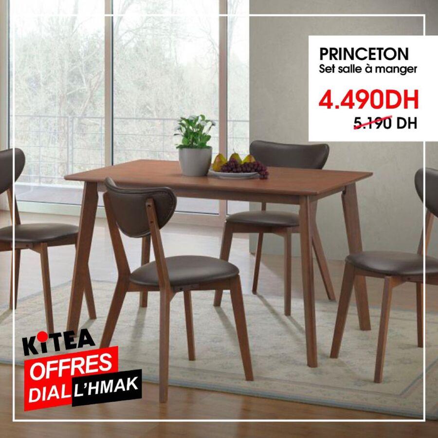 Soldes Kitea Set salle à manger PRINCETON 4490Dhs au lieu de 5190Dhs