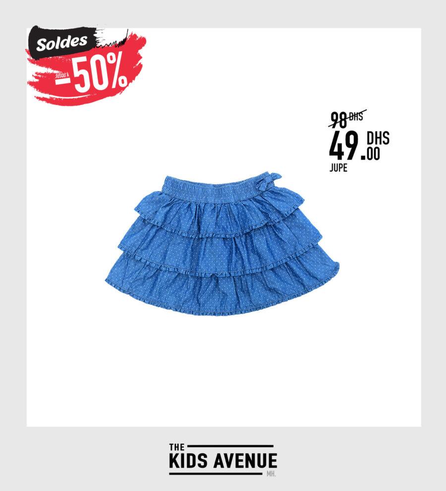 Soldes Kids Avenue MH Jupe pour fille 49Dhs au lieu de 98Dhs