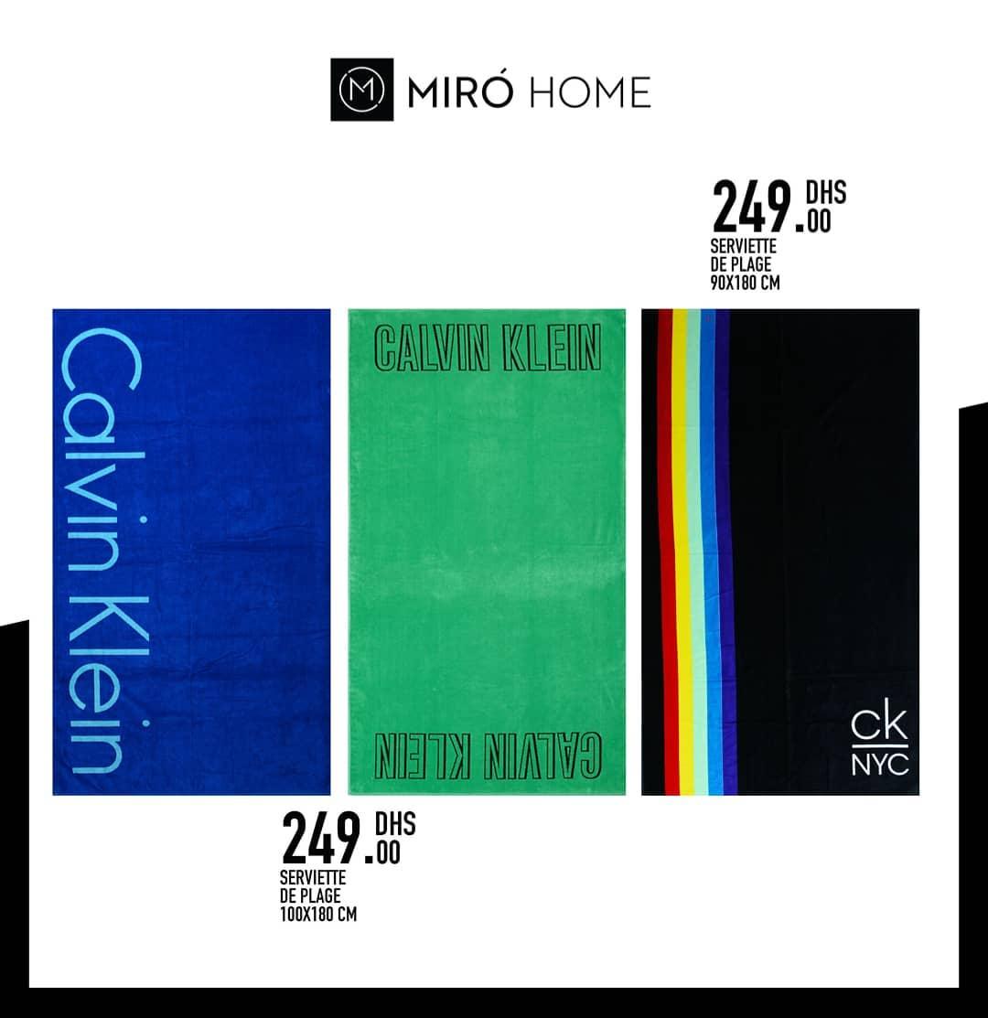 Nouvelles Offres chez Miro Home Serviette de plage 100x180cm 249Dhs