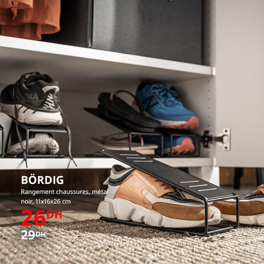 Soldes Ikea Maroc Rangement chaussures en métal BORDIG 15Dhs au lieu de 29Dhs