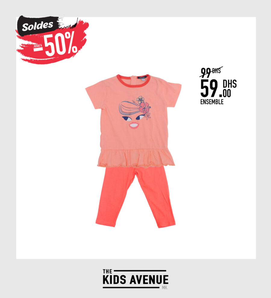 Soldes Kids Avenue MH Ensemble pour fille 59Dhs au lieu de 99Dhs