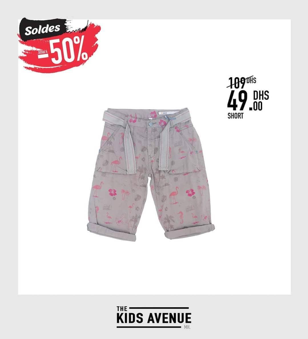 Soldes kids Avenue MH Short pour fille 49Dhs au lieu de 109Dhs