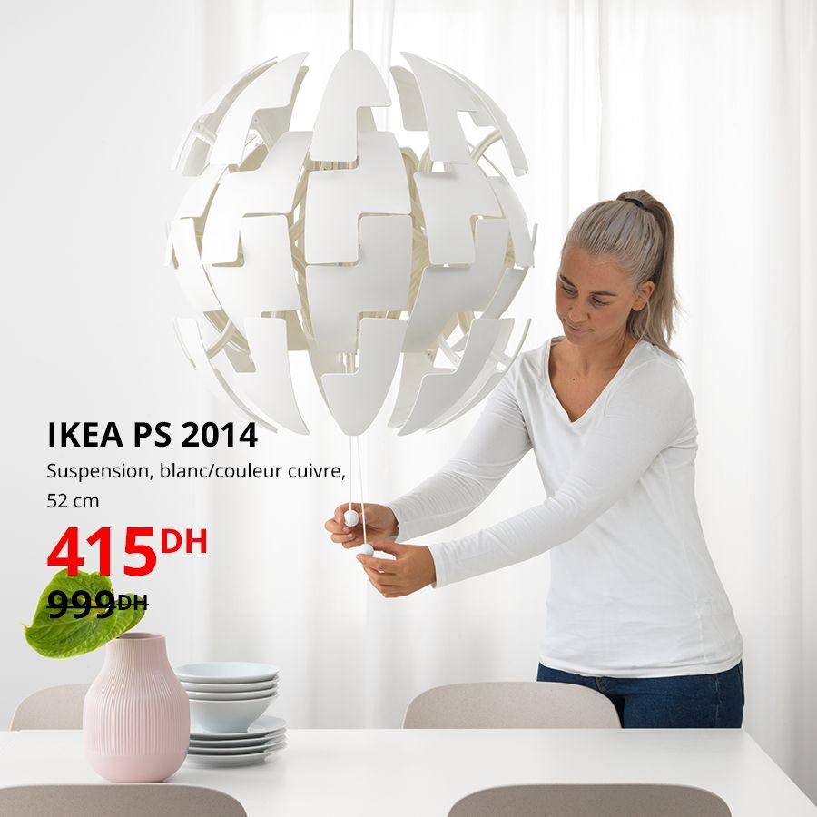 Soldes Ikea Maroc Suspension en cuivre IKEA PS 2014 52cm 415Dhs au lieu de 999Dhs