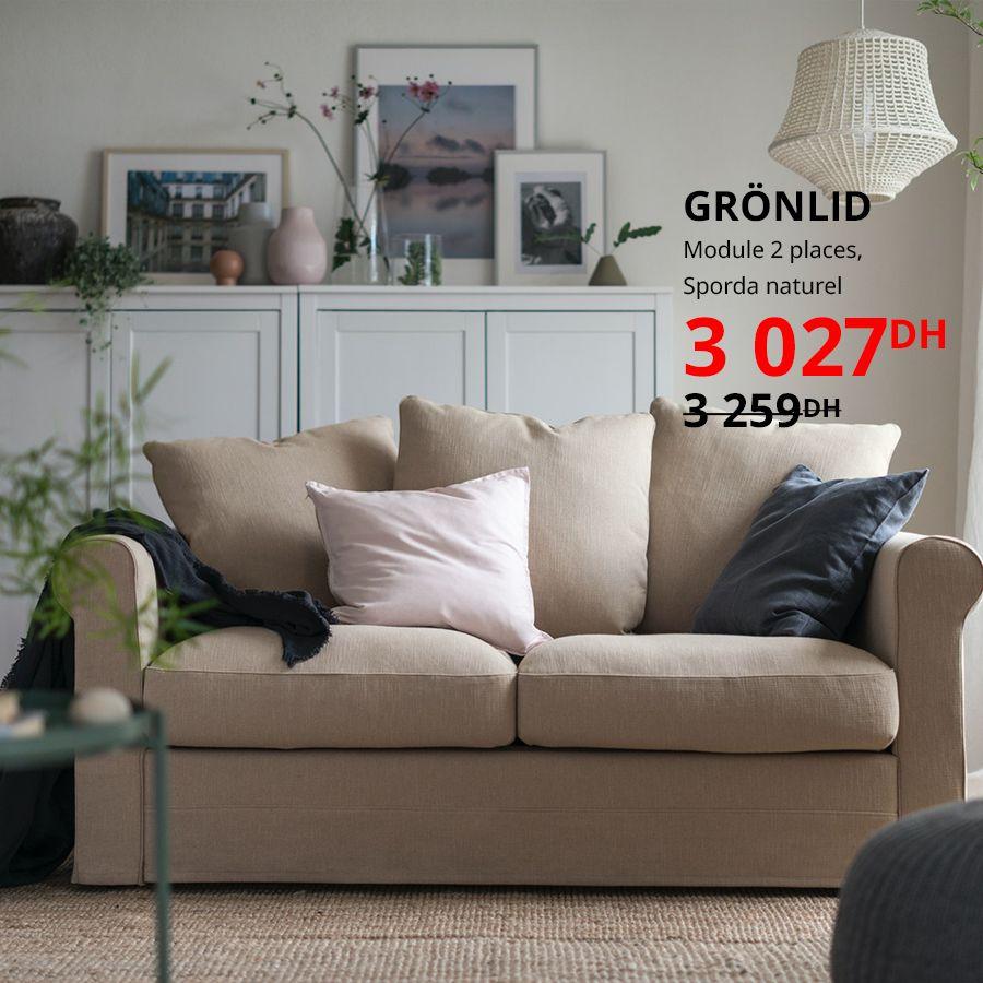 Soldes Ikea Maroc Module 2 places GRONLID 3027Dhs au lieu de 3259Dhs
