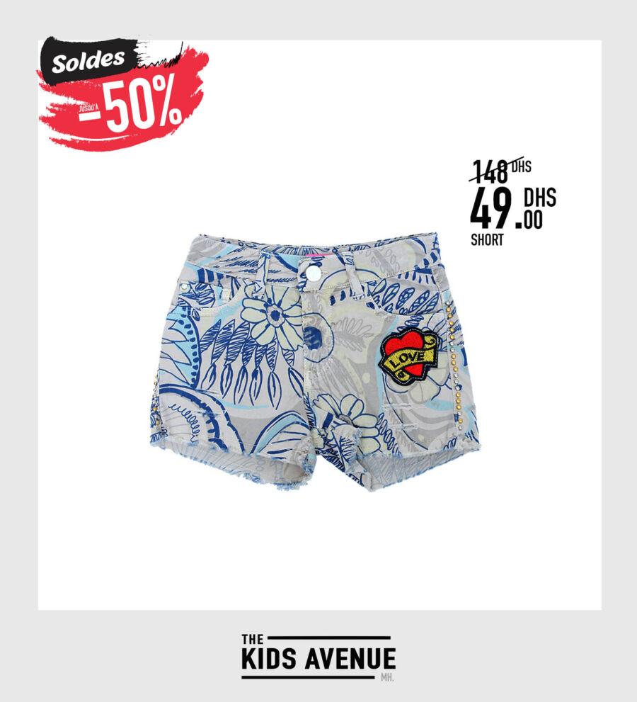 Soldes Kids Avenue MH Short pour fille 49Dhs au lieu de 148Dhs