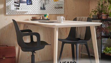 Soldes Ikea Maroc Table plaqué frêne LISABO 1495Dhs au lieu de 1995Dhs