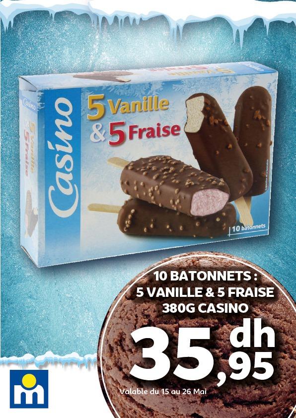 Offres des glaces ou sorbets chez Marjane valable du 15 au 26 Mai 2021
