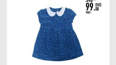 Soldes Kids Avenue MH Robe bleu pour fille 99Dhs au lieu de 198Dhs