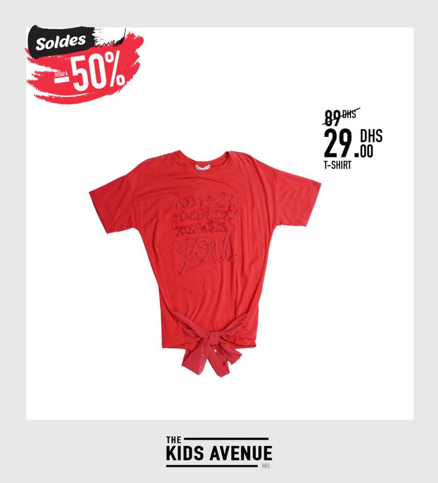 Soldes Kids Avenue MH T-shirt pour fille 29Dhs au lieu de 89Dhs
