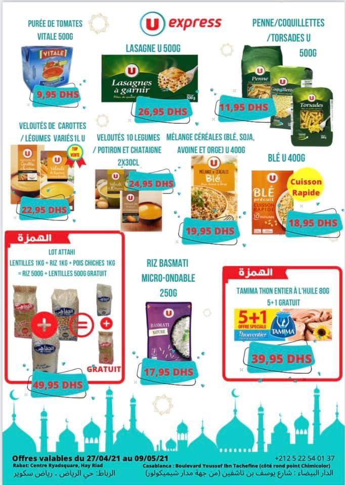 Catalogue UExpress Maroc عروض رمضان مستمرة du 27 Avril au 9 Mai 2021