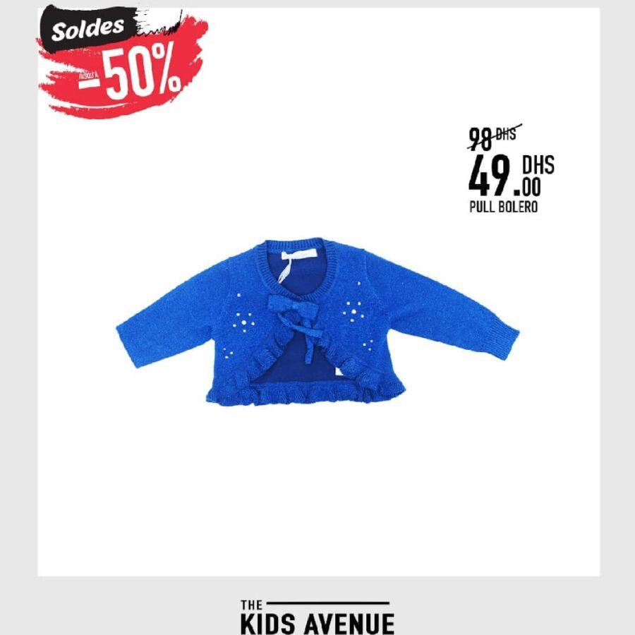 Soldes Kids Avenue MH Pull boléro pour fille 49Dhs au lieu de 98Dhs