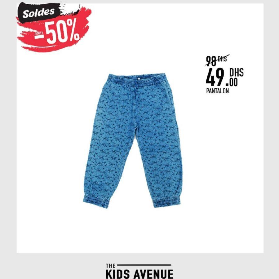 Soldes Kids Avenue MH Pantalon pour garçon 49Dhs au lieu de 98Dhs