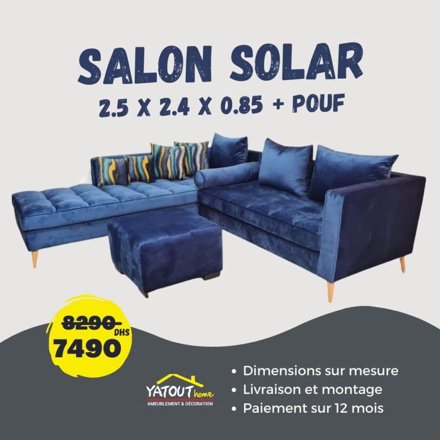 Soldes Yatout Home Salon SOLAR 7490Dhs au lieu de 8290Dhs