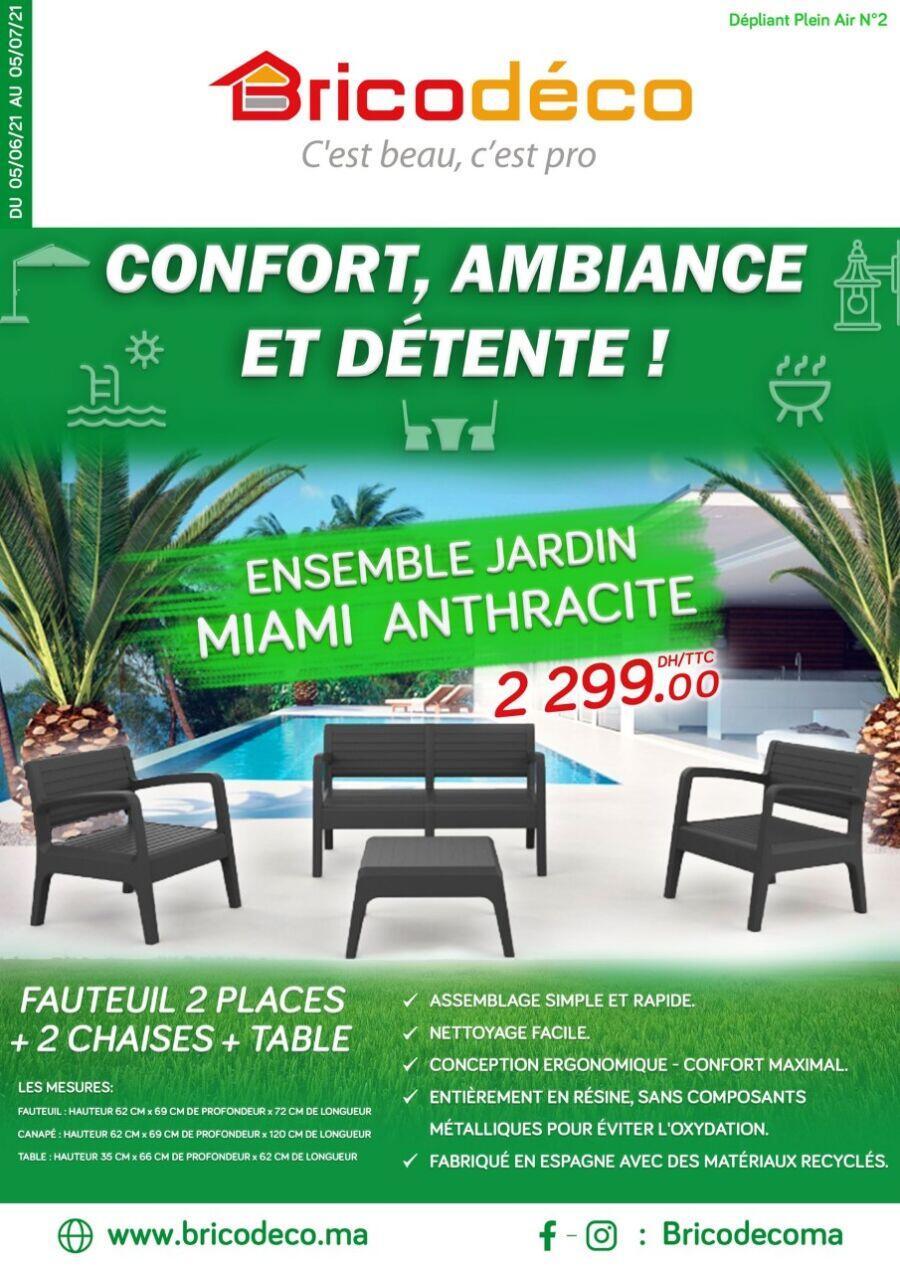 Catalogue Bricodéco Maroc Confort Ambiance et détente du 5 Juin au 5 Juillet 2021