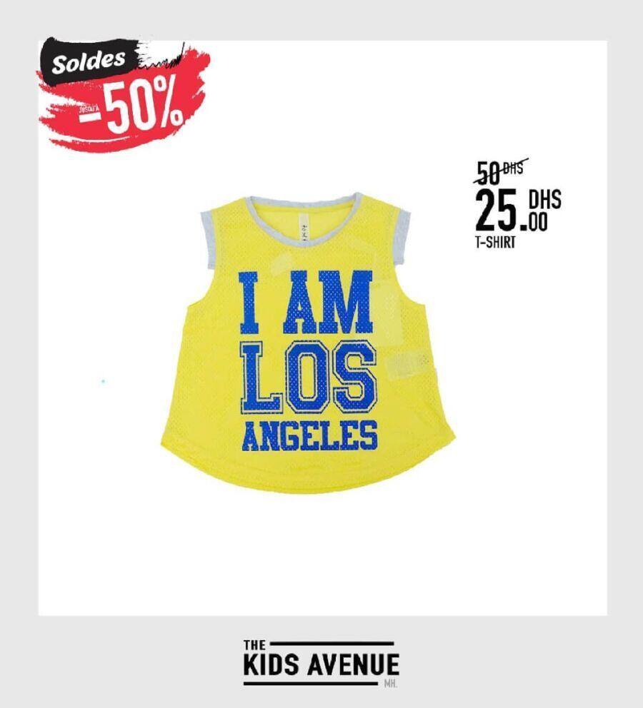 Soldes Kids Avenue MH T-shirt sport pour fille et garçon 25Dhs au lieu de 50Dhs