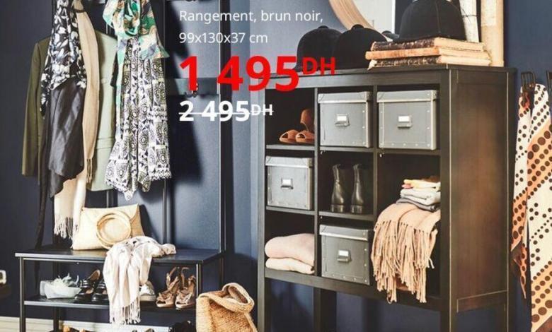 Soldes Ikea Maroc Rangement HEMNES brun noir 1495Dhs au lieu de 2495Dhs