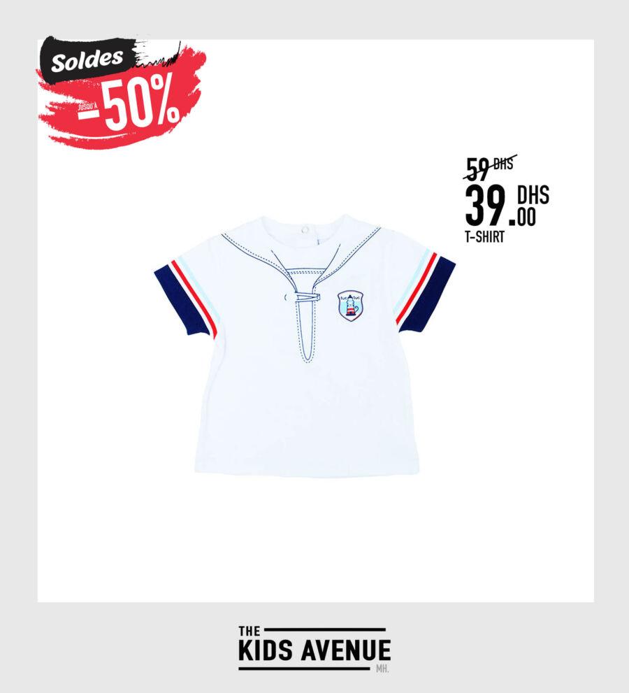 Soldes Kids Avenue MH T-shirt pour garçon 39Dhs au lieu de 59Dhs