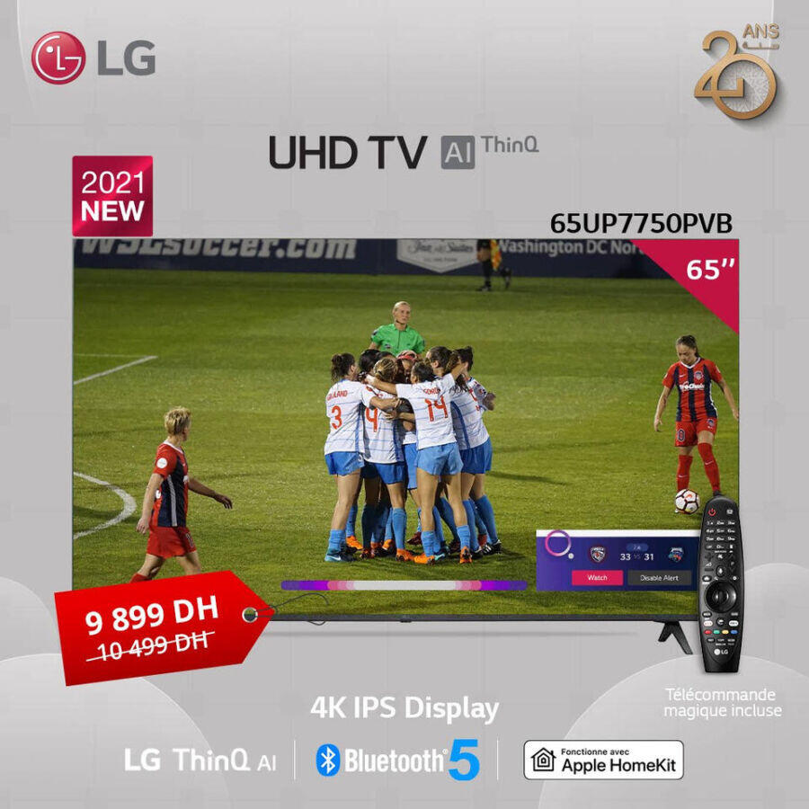 Soldes LG Maroc Smart TV 65° 4K IPS Display 9899Dhs au lieu de 10499Dhs