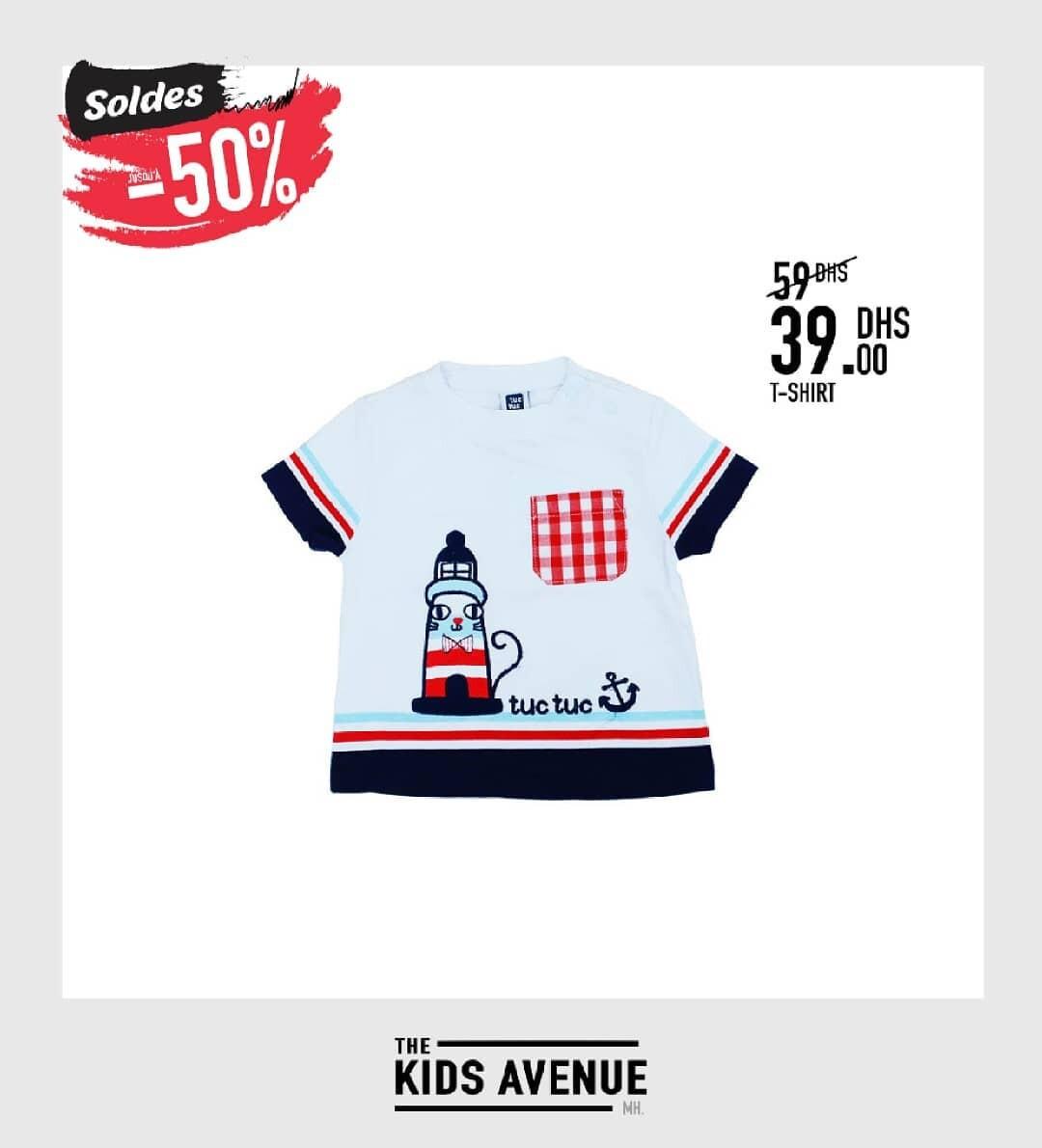 Soldes Kids Avenue MH T-shirt pour bébé garçon 39Dhs au lieu de 59Dhs