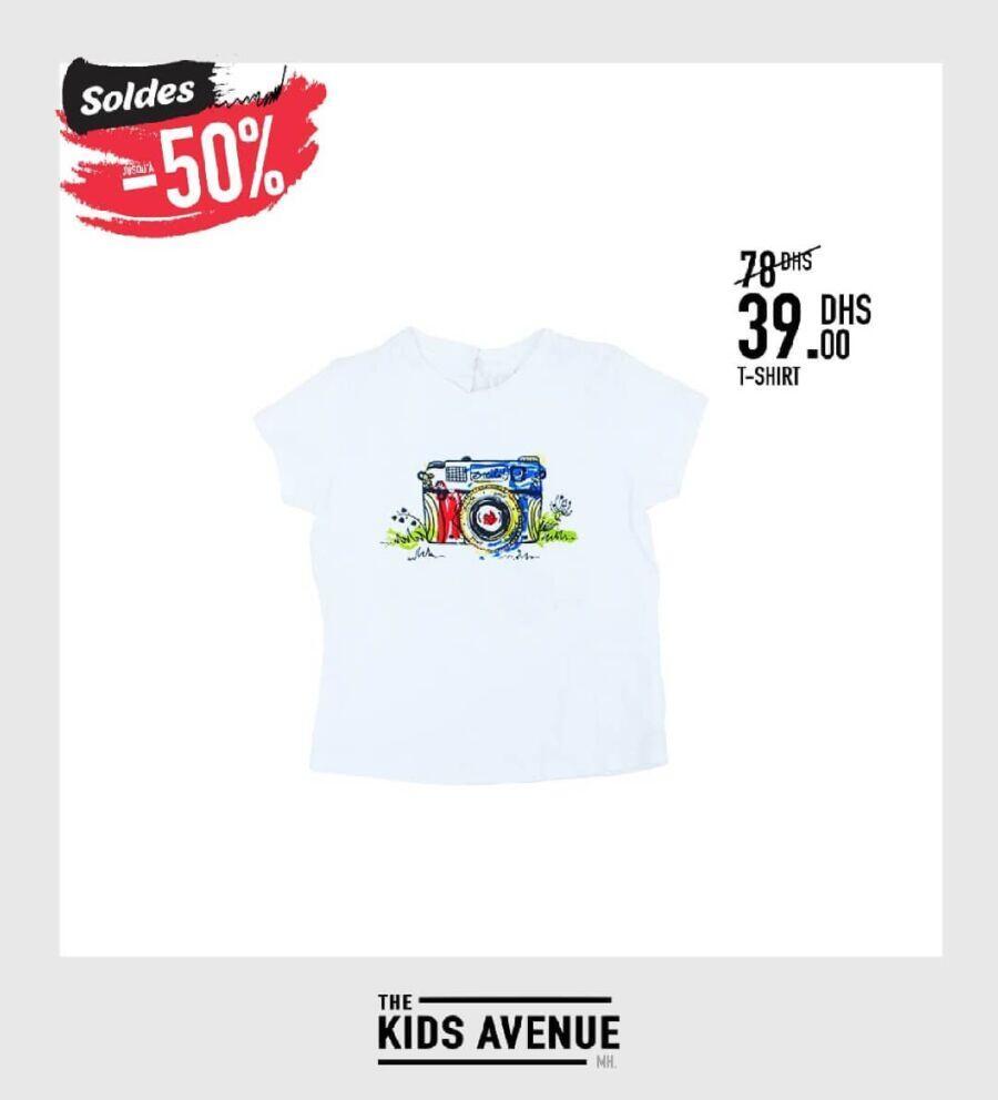 Soldes Kids Avenue MH T-shirt pour garçon 39Dhs au lieu de 78Dhs