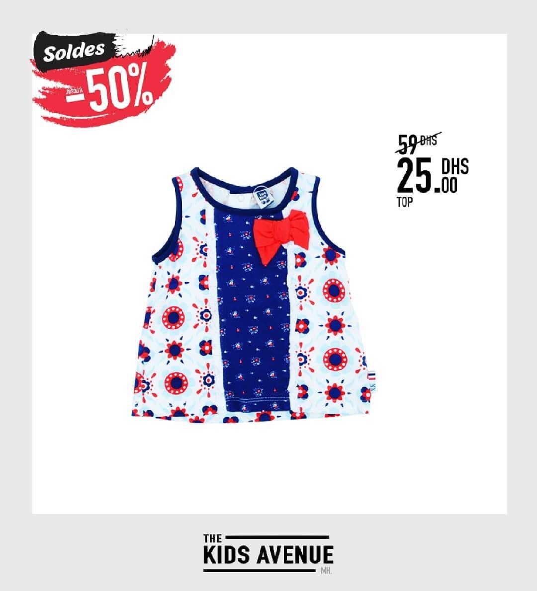 Soldes Kids Avenue MH Top pour fille 25Dhs au lieu de 59Dhs