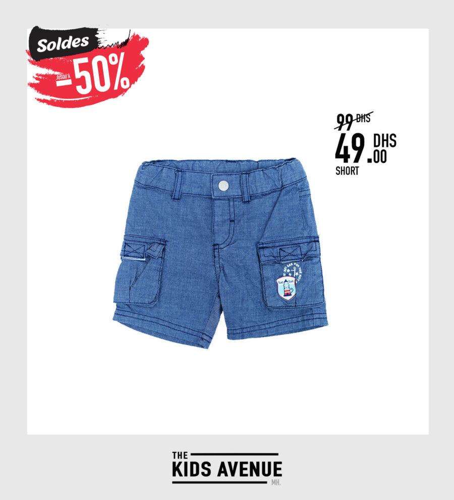 Soldes Kids Avenue MH Short pour garçon 49Dhs au lieu de 99Dhs