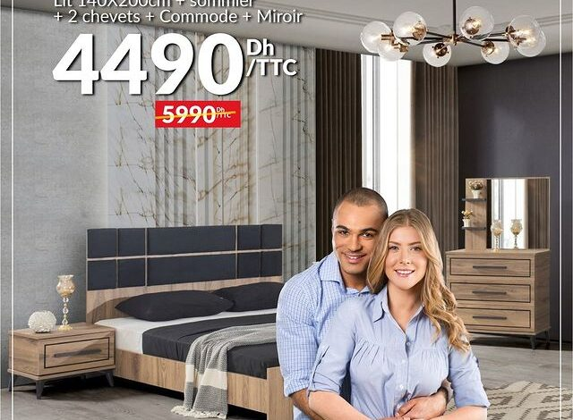 Soldes Yatout Home Maroc Pack ASPENDOS 4490Dhs au lieu de 5990Dhs