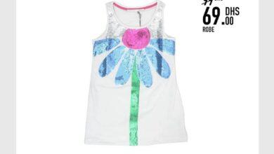 Soldes Kids Avenue MH Robe pour bébé fille 69Dhs au lieu de 99Dhs
