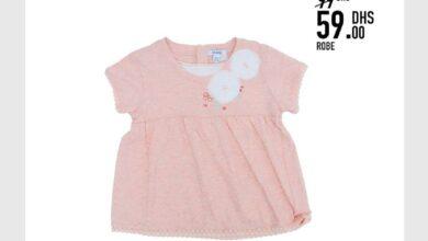 Soldes Kids Avenue MH Robe pour bébé fille 59Dhs au lieu de 99Dhs