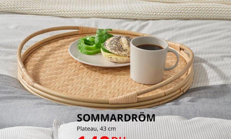 Soldes Ikea Maroc Plateau 43cm SOMMARDROM 149Dhs au lieu de 299Dhs