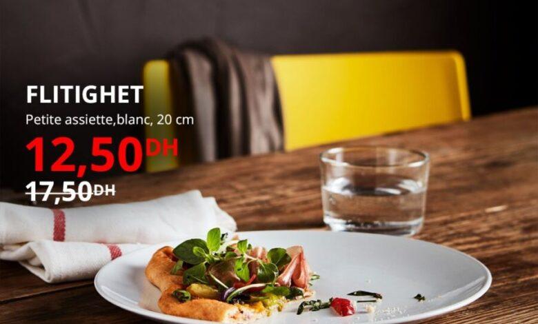 Soldes Ikea Maroc Petite assiette 20cm FLITIGHET 12.5Dhs au lieu de 17.5Dhs