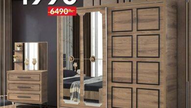 Soldes Yatout Home Armoire 220x210x61cm ASPENDOS 4990Dhs au lieu de 6490Dhs